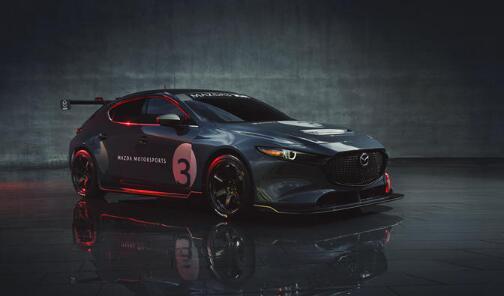 新款350马力的Mazda3赛车将于明年年初首次亮相