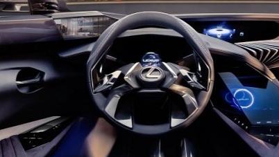 雷克萨斯UX概念车具有3D图形显示汽车仪表板的未来