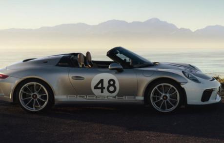 保时捷在2019年4月的纽约国际车展上推出了新的Speedster