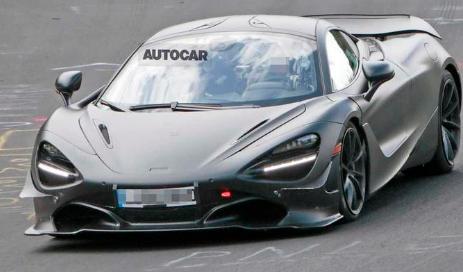 迈凯轮750LT原型车可能在纽伯格林测试