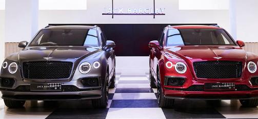 限量版Bentley Bentayga具有格子内饰和棋盘