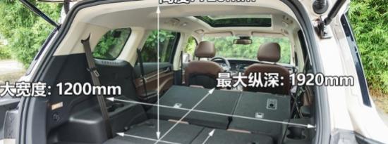评测君马S70后备厢容积载物能力实测及君马S70车内氛围灯效果展示