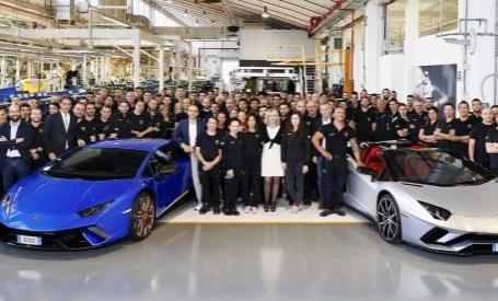 兰博基尼Aventador产量达到7000 Huracan达到9000