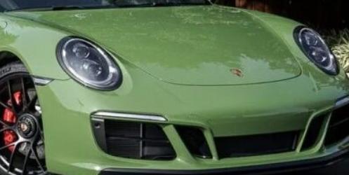 保时捷911CarreraGTSCabrio前所未有的橄榄绿色德国跑车