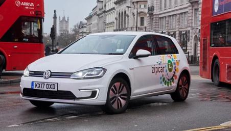 大众电子高尔夫通过Zipcar行驶超过25万英里