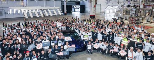 3月份特斯拉销量占中国电动汽车市场的30%