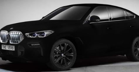 宝马预览了带有高科技 Vantablack喷漆的新型X6 SUV