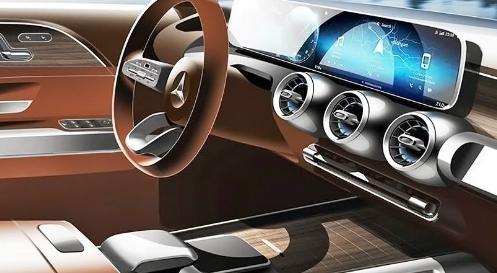 梅赛德斯奔驰发布了即将面世的Concept GLB客舱的预告片
