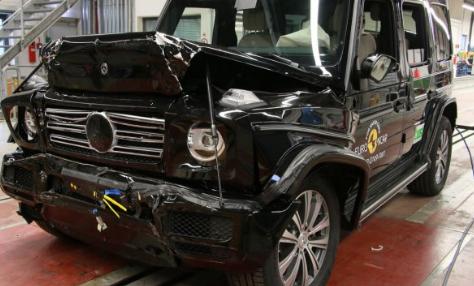 奔驰G级车在欧洲NCAP碰撞测试中获得完美的五星级评级