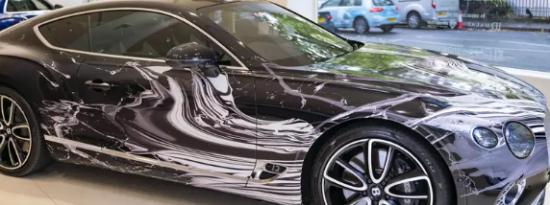 宾利欧陆GT已成为抽象艺术车
