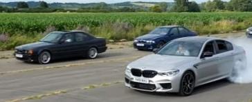 TiffNeedell对从E28到F90竞赛的所有BMWM5一代进行测试