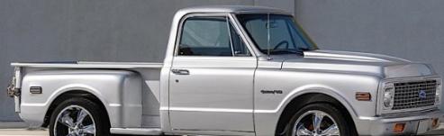 短轴距1971ChevroletC10皮卡车赋予抛光金属新的含义