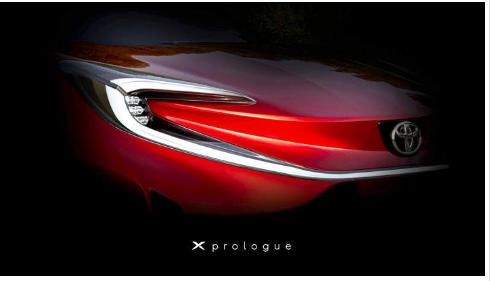 丰田XPrologue成为丰田的首款纯电动汽车