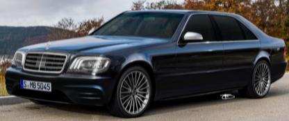YouTube艺术家将奔驰S600 W140想象成现代旗舰豪华轿车