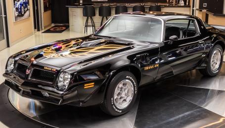 数字匹配1976年的Pontiac Trans Am Survivor仅显示16957原始英里