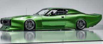 道奇Charger绿巨人在快速渲染中包装了充足的宽体肌肉
