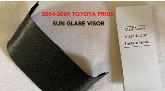 这款整洁的遮阳板可防止MFD阳光照射在您的丰田普锐斯上