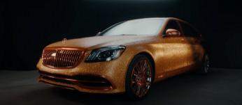 梅赛德斯奔驰将其迈巴赫 S 560 改造成闪亮的金色现代战车